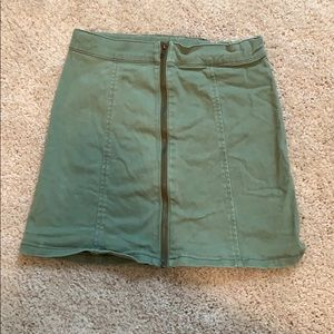 Crazy 8 army green zip up skirt
